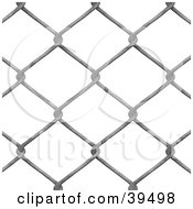 Clipart Illustration Of A Chain Link Fence Background On White