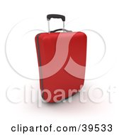 Clipart Illustration Of A Red Rolling Suitcase