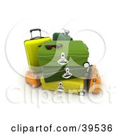 Clipart Illustration Of Shades On Green Suitcases