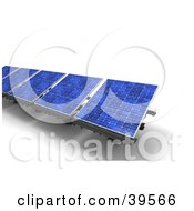 Clipart Illustration Of A Row Of Blue Solar Energy Panels