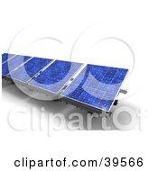 Row Of Blue Solar Energy Panels
