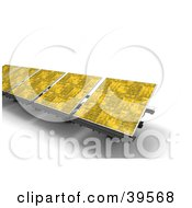 Clipart Illustration Of Yellow Solar Energy Panels