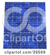 Clipart Illustration Of Rows Of Blue Solar Panels Generating Energy