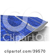 Clipart Illustration Of Energy Solar Panels In Blue by Frank Boston