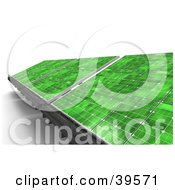 Clipart Illustration Of Green Solar Panels Generating Energy