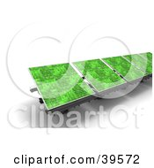 Clipart Illustration Of A Row Of Green Solar Energy Panels