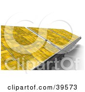 Clipart Illustration Of Yellow Solar Panels Generating Energy by Frank Boston