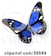 Clipart Illustration Of A Blue Solar Panel Butterfly by Frank Boston #COLLC39589-0095