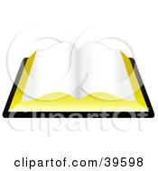 Clipart Illustration Of A Blank Open Book Or The Holy Bible by Prawny