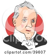 Clipart Illustration Of American President James Buchanan