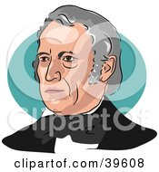 Clipart Illustration Of American President Zachary Taylor