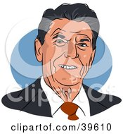 Clipart Illustration Of American President Ronald Reagan by Prawny