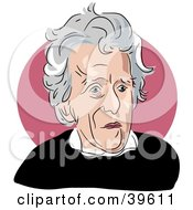 Clipart Illustration Of American President Andrew Jackson