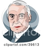 Clipart Illustration Of American President Warren G Harding