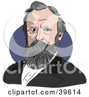 Clipart Illustration Of American President Rutherford B Hayes