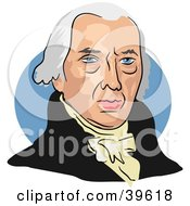 Clipart Illustration Of American President James Madison by Prawny