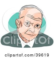 Clipart Illustration Of American President Dwight Eisenhower by Prawny