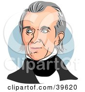 Clipart Illustration Of American President James Knox Polk