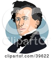 Clipart Illustration Of American President Franklin Pierce