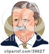 Clipart Illustration Of American President Theodore Roosevelt by Prawny