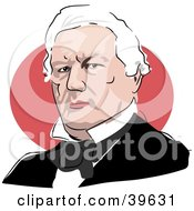 Clipart Illustration Of American President Millard Fillmore by Prawny