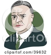 Clipart Illustration Of American President Herbert Hoover by Prawny