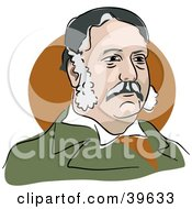 Clipart Illustration Of American President Chester Arthur by Prawny