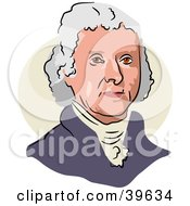 Clipart Illustration Of American President Thomas Jefferson by Prawny