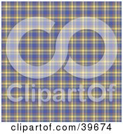Clipart Illustration Of A Square Blue Orange And Yellow Plaid Tartan Background Pattern