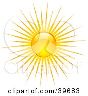 Clipart Illustration Of A Shiny Summer Sun Casting Rays