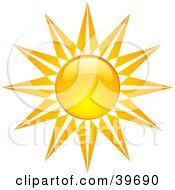 Stary Like Bright And Shiny Orange And Yellow Summer Sun