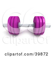 Clipart Illustration Of A 3d Purple And Chrome Free Weight