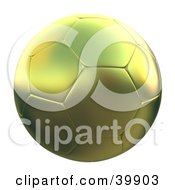 Hovering Gold Soccer Ball