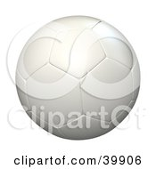Clipart Illustration Of A Hovering White Soccer Ball