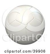 Hovering White Soccer Ball
