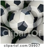 Clipart Illustration Of A Background Of Soccer Balls