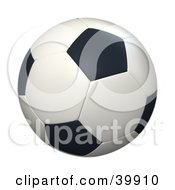 Clipart Illustration Of A Hovering Black And White Soccer Ball by Frank Boston