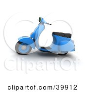 Clipart Illustration Of A Blue 3d Scooter