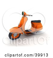 Clipart Illustration Of An Orange 3d Scooter