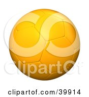 Clipart Illustration Of A Hovering Yellow Soccer Ball by Frank Boston