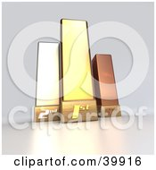 Clipart Illustration Of 3d Gold Bronze And Silver Trophies