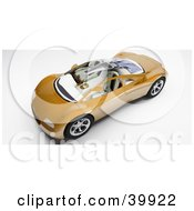 Clipart Illustration Of A View Down On A Futuristic 3d Orange Car With A Clear Glass Top by Frank Boston