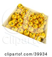 Clipart Illustration Of A Box Full Of Yellow Question Mark Balls