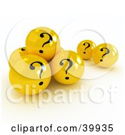Clipart Illustration Of 3d Yellow Question Mark Balls by Frank Boston #COLLC39935-0095