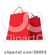 Clipart Illustration Of Two Red 3d Gift Bags by Frank Boston
