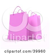 Clipart Illustration Of Two Pink 3d Gift Bags by Frank Boston