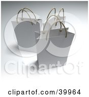 Clipart Illustration Of Three 3d White Shopping Bags by Frank Boston