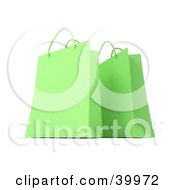 Clipart Illustration Of Two Lime Green 3d Gift Bags by Frank Boston