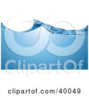 Clipart Illustration Of Purified Blue Water Waving Across A White Background by Eugene