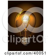 Clipart Illustration Of A Euro Coin Inside A Transparent Light Bulb by Eugene